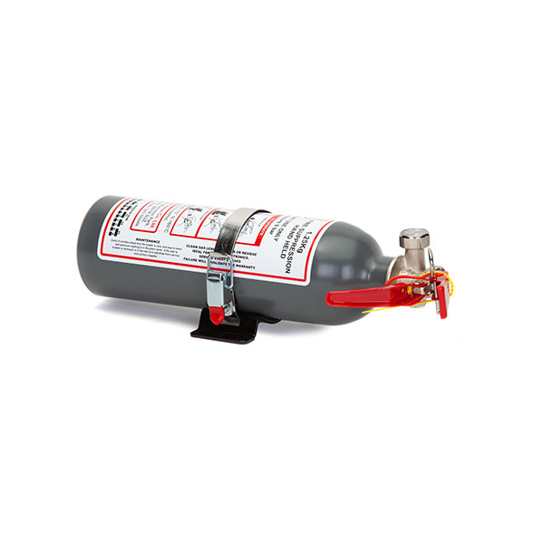 FEV f-TEC1250HH Gas Handheld Race Car Fire Extinguisher - 1.25kg Grey With Fitting Attachment