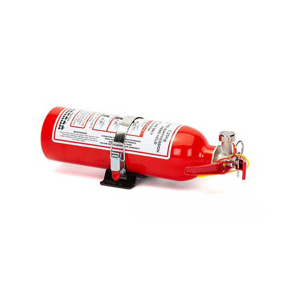 FEV f-TEC1250HH Gas Handheld Race Car Fire Extinguisher 1.25kg Red Gloss With Fixing