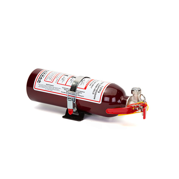 FEV f-TEC1250HH Gas Handheld Race Car Fire Extinguisher 1.25kg Dark Red With Fixing