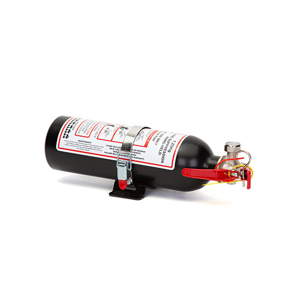 FEV f-TEC1250HH Gas Handheld Race Car Fire Extinguisher 1.25kg Black With Fixing