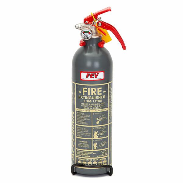 FEV 0.9L Foam F-TEC900HH FIA Handheld Race Car Fire Extinguisher - Grey