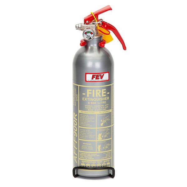 FEV 0.9L Foam F-TEC900HH FIA Handheld Race Car Fire Extinguisher - Silver