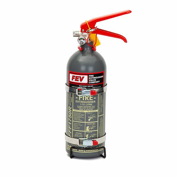FEV 1.75L Foam F-TEC175HH FIA Handheld Race Car Fire Extinguisher in Grey