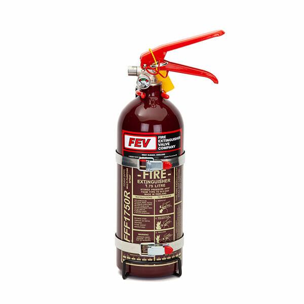 FEV 1.75L Foam F-TEC175HH FIA Handheld Race Car Fire Extinguisher in Dark Red Gloss
