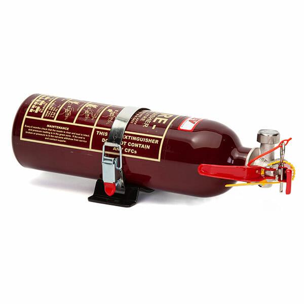 FEV 0.9L Foam F-TEC900HH FIA Handheld Race Car Fire Extinguisher - Dark Red Gloss