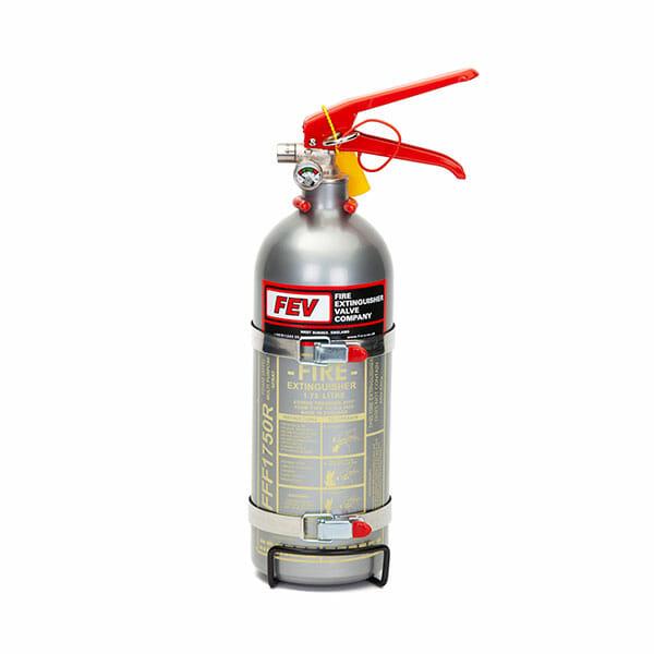 FEV f-TEC175HH Foam Handheld Race Car Fire Extinguisher in Silver