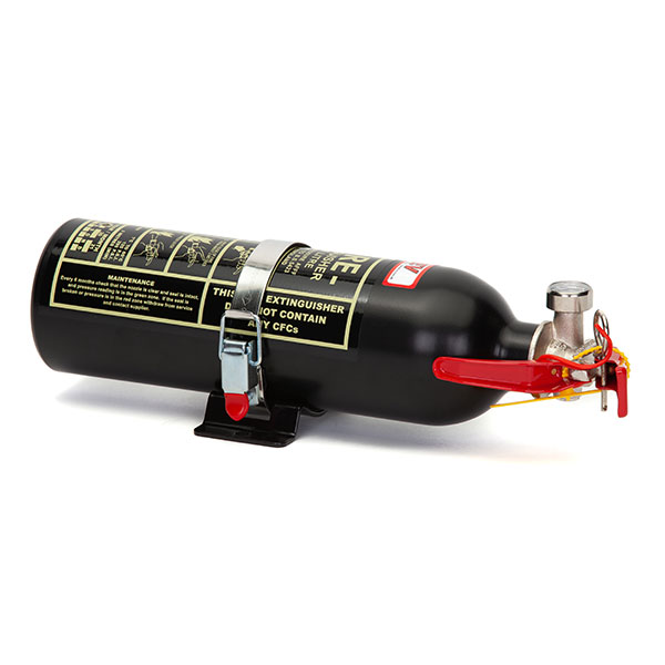 FEV 0.9L Foam F-TEC900HH FIA Handheld Race Car Fire Extinguisher in Black